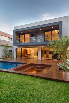 Modern Architecture House, Residential Architecture, Model House Plan, House Plans, Charleston Hotels, Modern Villa Design, Bungalow House Design, Dream House Exterior, Facade House