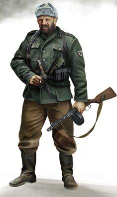 Oleg the Bear, Hauptscharführer of the Russian National Liberation Army and Bronislav Kaminski's right-hand man.