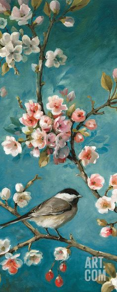 Blossom III Art Poster Print by Lisa Audit, 8x20 in Home & Garden, Home Décor, Posters & Prints | eBay