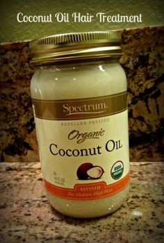 Coconut Oil Treatment for shiny, healthy hair.  (Melt a tbsp or two in a bowl in the microwave at 10 sec intervals.  Will be clear when melted.  Massage into hair - not scalp.  Put hair in a bun.  Leave in for at least one hour.  Shampoo and rinse very well.  Style as usual.)