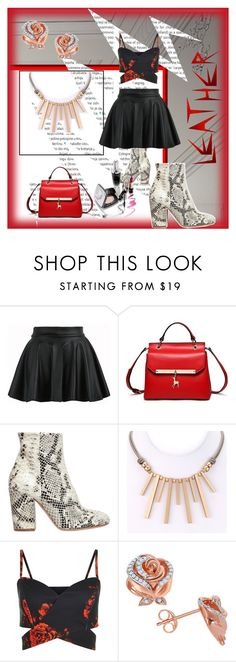 """""""leather and roses"""" by jennross76 ❤ liked on Polyvore featuring Oris, Strategia, Disney and Leather"""