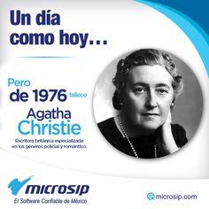Un día como hoy, 12 de enero, pero de 1976 fallece Agatha Christie, escritora británica especializada en los géneros policial y romántico.