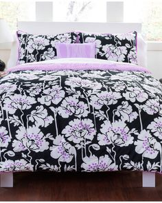 """""""Midnight Poppies"""" Cotton Comforter Set is on Rue. Shop it now."""
