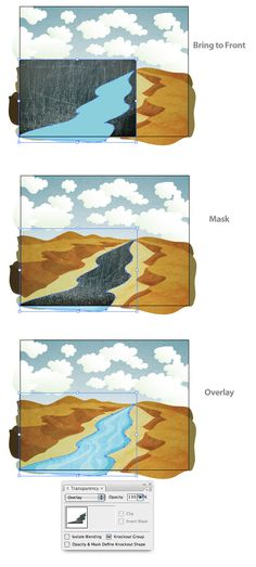 Adobe Illustrator // How to create a textured vector landscape tutorial