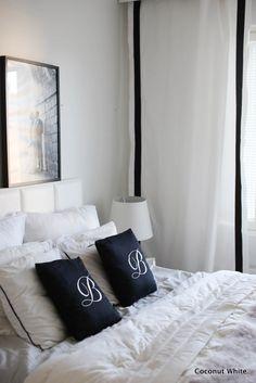 Coconut White: Mustavalkoinen makuuhuone ja kotona puuhailua