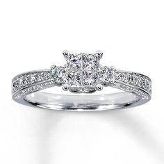 14K White Gold ¾ Carat t.w. Diamond Ring. My engagement ring that Jim will get me :)