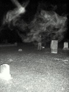 ghost photo! wow... do you see the face in that smoke stuff that makes up the ghost?