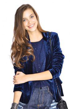 blazer veludo - Dress To - R$110,40