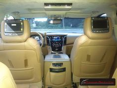 Interior del Cadillac Escalade Platinum 2016 color Blanco / 2016 Cadillac Escalade Platinum White