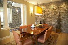 decoration salle manger pierre