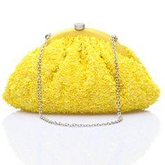 #KUNST  Yellow Sequins #clutch