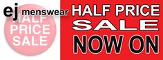 Bargains galore in store all this week!!  All top brands are now HALF PRICE.