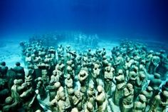 Incredible underwater sculptures provide artificial reefs for ocean creatures