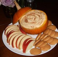 Fall Pumpkin Dip -  15 oz can pumpkin, 5 oz box instant vanilla pudding (dry), 16 oz cool whip, 1/2 tbsp pumpkin spice, 1/2 tbsp cinnamon