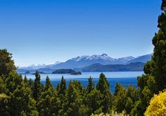 View of the Nahuel Huapi National Park from the Golf course at Llao Llao Hotel