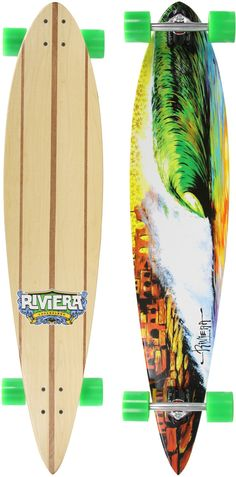 Perfect to be long boarding on a beach