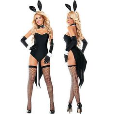 Sexy Womens Fairytale Disney Lola Bunny Tuxedo Playboy Hottie Halloween Costume