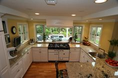 White Kitchen with Garden View (Cultivate.com)