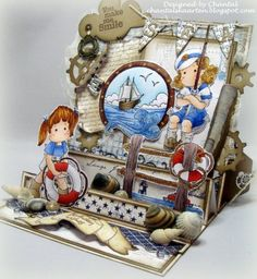 Cards made by Chantal: Having fun by the seaside!