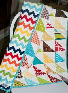 triangle modern quilt