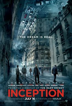 Inception is a 2010 science fiction heist thriller film written, produced, and directed by Christopher Nolan. The film stars a large ensemble cast that includes Sci Fi Movies, Movies To Watch, Indie Movies, Action Movies, Foreign Movies, Fantasy Movies, Comedy Movies, Film Inception, Love Movie