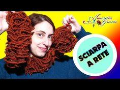 Sciarpa a rete con l'uncinetto - Metodo avanzato - Tutorial Gratis su Youtube How to crochet a ruffle scarf - Free Tutorial on Youtube