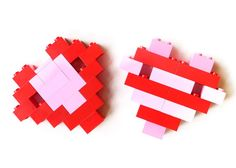 "DIY LEGO Heart Valentines - The kids will love helping make these ""Never LEGO of my"" heart Valentines for their friends, with free printables included!"