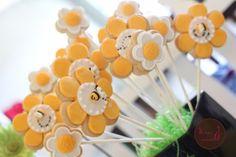 Flower and Bee Cookies