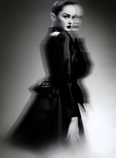 Lisa Cant photographed by Luciana Val and Franco Musso for Numéro Korea no. 4, November 2008 ('Couture de la Lumière').  Jacket and skirt: Christian Lacroix Haute Couture Fall 2008.