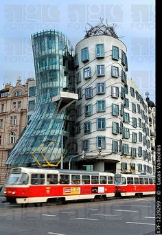 Dancing House by architects Gehry and Milunic Prague  Czech Republic