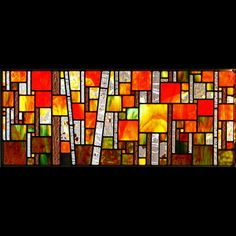 Josephine works from her Minnesota studio creating geometric and slightly abstract 'landscape mosaics' crafted in traditional leaded stained glass. Modern Stained Glass, Stained Glass Quilt, Faux Stained Glass, Stained Glass Designs, Stained Glass Projects, Fused Glass Art, Stained Glass Patterns, Leaded Glass, Stained Glass Windows