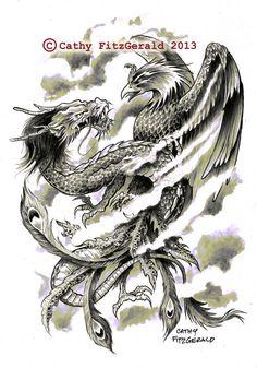 tatouage phoenix japonais 1461895857323