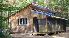 Double shed roof