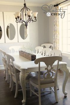 I like the finish on this white table. Also can use the instructions found here for the planterbox center piece as a window herb box.