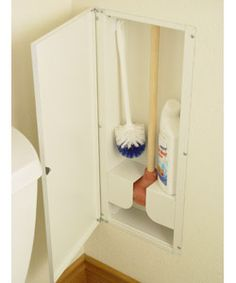 Brilliant plunger & washer storage. As soon as I can find it, it's going into all my bathrooms.