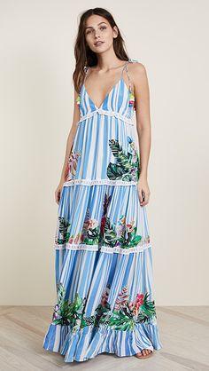 ROCOCO SAND Stripe Blossom Long Dress | SHOPBOP