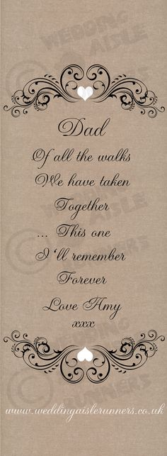 hessian style dad of all the walks verse by wedding aisle runners .co.uk