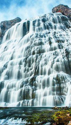 The Dynjandi Waterfall in Iceland.
