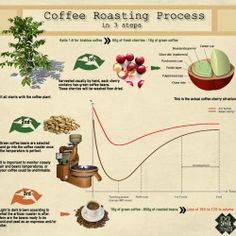 #Coffee roasting is science. #infographic