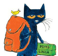 Pete the Cat ready for school