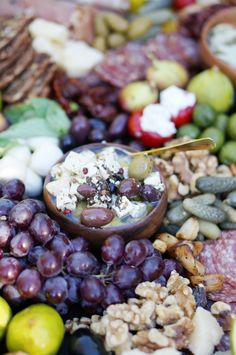 grapes •Whole sun-dried tomatoes •Variety of olives •Marinated ...