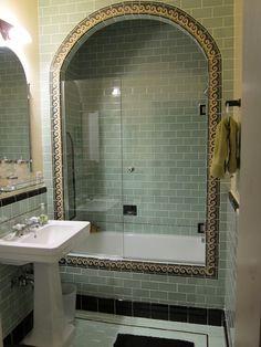 Spanish Style Bathroom Floor Spanish Style Bathroom Rustic Spanish Style Bathroom Decor Spanish Style Bathroom Spanish style vanity tiles Creative bathroom tile ideas you should try Spanish Bathroom, Spanish Style Bathrooms, Spanish Tile, Spanish Revival Home, Spanish Style Homes, Spanish Colonial, Art Nouveau, Art Deco, Light Green Bathrooms