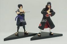 New 2pcs/set 14cm PVC japanese anime figures naruto Dolls Uchiha Sasuke + Uchiha itachi game Naruto shippuden Action Figure Toy