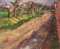 Art of the Day: Van Gogh, Pollard Willows, April 1889. Oil on canvas, 55 x 65 cm. Private collection.