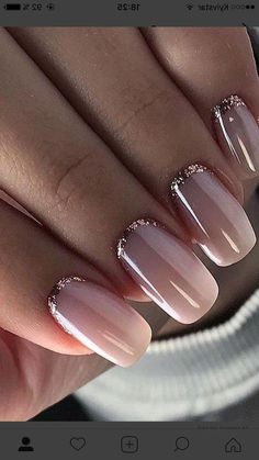 58 Most Gorgeous and Cute ♥ Light Nails Ideas for Winter and Spring Life - Diaror Diary - Page 30 ♡♥ 𝕴𝖋 𝖀 𝕷𝖎𝖐𝖊, 𝕱𝖔𝖑𝖑𝖔𝖜 𝖀𝖘! ♥♡ ♥ ♥ ♥ ♥ ♥ ♥ ♥ ♥ ♥ ♥ ღ♥Hope you like this collection gorgeous light nails design! Pale Pink Nails, Nude Nails, Gold Manicure, Gold Nails, Matte Nails, Coffin Nails, Gold Glitter, Winter Nails, Spring Nails