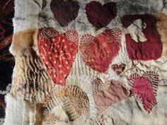 A lovely quilt by Jude Hill, Spirit Cloth. Embroidery Stitches, Hand Embroidery, Quilting, Art Du Fil, Textile Fabrics, Textile Artists, Heart Art, Fabric Art, Fiber Art