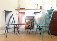 We have 4 Ercol Goldsmith Chairs and I cannot wait to paint them like this!!!!