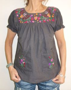 #Peasant blouse & jeans....classic look for me~