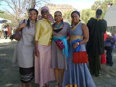 The Basotho people also known as Sotho, are Bantu people of the Kingdom of Lesotho (lusō'tō), an enclave within the Republic of South Africa. Sotho Traditional Dresses, Traditional Dresses Designs, Traditional Outfits, Seshoeshoe Dresses, Fashion Dresses, African Beauty, African Fashion, Fashion Colours, All Fashion