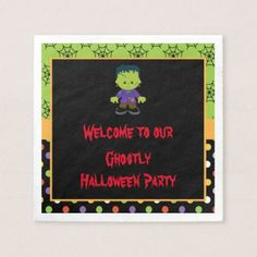Cute Monster Boy Halloween Costume Party Napkin - kitchen gifts diy ideas decor special unique individual customized